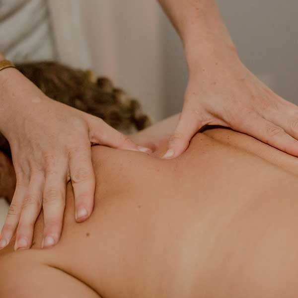 woman getting massage